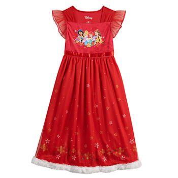 Disney's Princesses Girls 4-8 Christmas Fantasy Nightgown Disney