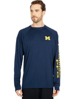 Рубашка с длинным рукавом Michigan Wolverines Terminal Tackle ™ Columbia College