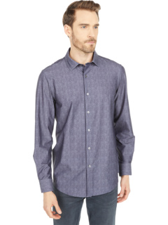 Рубашка Ooohcotton Tech с длинным рукавом Luca с острым воротником BUGATCHI