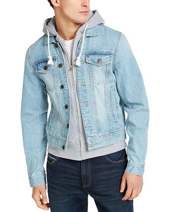 Мужская джинсовая куртка с капюшоном Phoenix Trucker, созданная для Macy's Sun + Stone