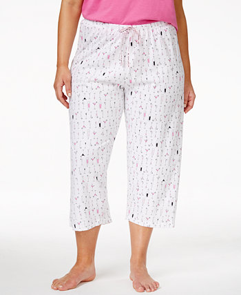 Пижамные штаны-капри с принтом коктейлей больших размеров HUE