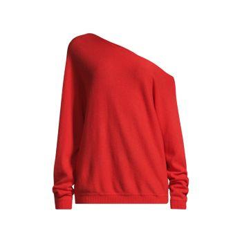 Асимметричный топ из кашемира с открытыми плечами Minnie Rose