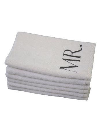 Вензель Mr. & Mrs. 6-Pc. Набор гостевых полотенец из турецкого хлопка TALESMA