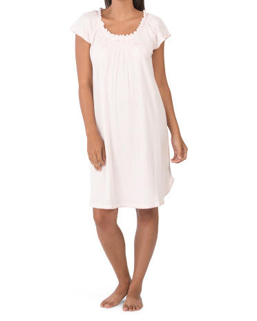 Ночная рубашка с короткими рукавами и цветочным принтом Contessa Miss Elaine