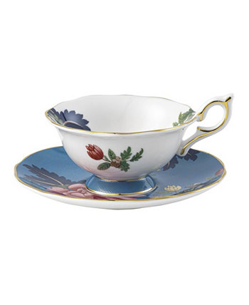 Wonderlust Sapphire Garden Набор из 2 блюд для чайных чашек Wedgwood