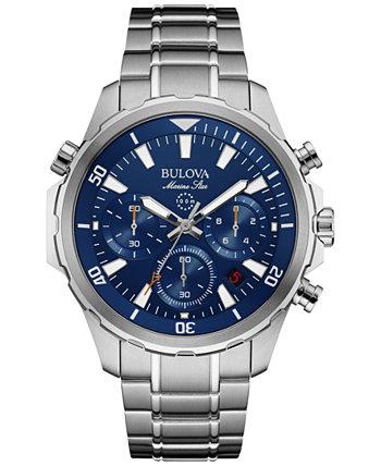 Мужские часы-хронограф Marine Star из нержавеющей стали 43мм 96B256 Bulova
