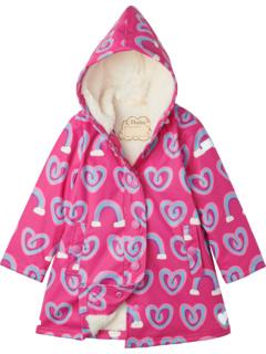 Куртка-лягушка Twisty Rainbow Hearts с подкладкой из шерпы (для малышей / маленьких детей / старших детей) Hatley Kids
