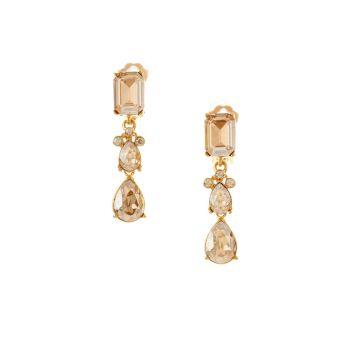 Классические маленькие серьги-капли с кристаллами Swarovski Oscar de la Renta