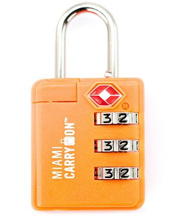 Miami Carry-On TSA Одобренный комбинированный замок для багажа Miami CarryOn