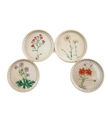 Керамические подставки - Набор из 4 весенних цветов THIRSTYSTONE