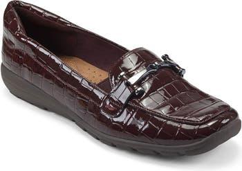 Amelia Croc Embossed Loafer Easy Spirit