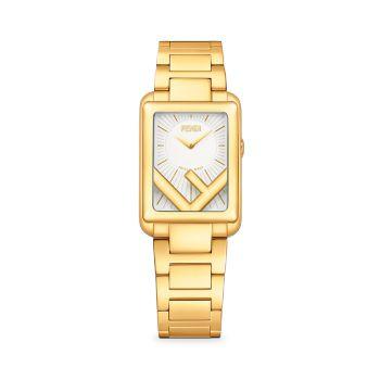 Часы Run Away Goldtone из нержавеющей стали с браслетом Fendi Timepieces