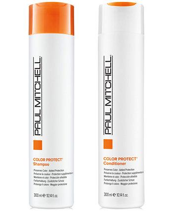 Color Protect Shampoo & Conditioner (два предмета), 10,14 унции, от PUREBEAUTY Salon & Spa PAUL MITCHELL