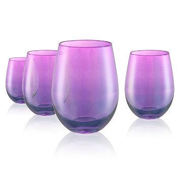 Набор из 4 шт. Lustre Purple Stemless 16oz. Очки Artland