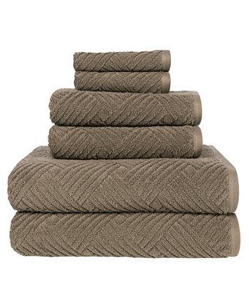 Набор текстурированных банных полотенец Seymour Basket Weave, 6 предметов American Dawn