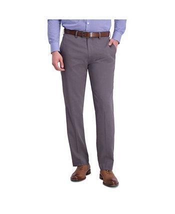 Комфортная эластичная мини-полоска в тонкую полоску с передними брюками Louis Raphael