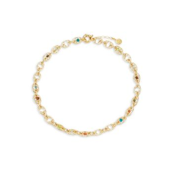 Alegria позолоченный 24K & amp; Ожерелье из бисера Gas Bijoux