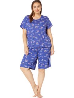 Plus Size Short Sleeve Pullover Bermuda PJ Karen Neuburger