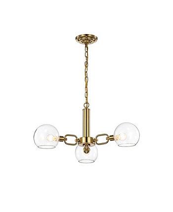 Андрес 27-дюймовая комнатная люстра с 3 лампами и комплектом светильников Home Accessories