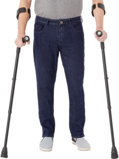 Адаптивные узкие прямые джинсы с застежкой на магнитах и липучками Micro Velcro® цвета Blue Rinse Seven7