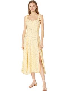 Миди-платье с галстуком-бабочкой Bardot