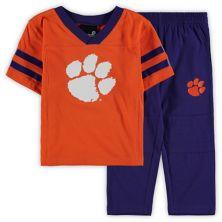 Toddler Orange/Black Clemson Tigers Training Camp Jersey T-Shirt and Pants Set Outerstuff