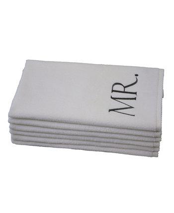 Вензель Mr. & Mrs. 6-Pc. Турецкие хлопковые полотенца для рук TALESMA