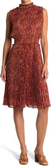 Платье миди со сборками без рукавов с цветочным принтом и воротником со сборками Nanette nanette lepore
