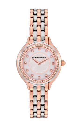 Женские часы с перламутровым светом и легким циферблатом, 2 стрелки, тонкий механизм, нержавеющая сталь, 34 мм BCBGeneration
