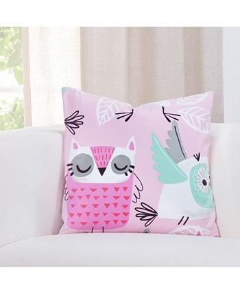 Дизайнерская европейская подушка Night Owl 26 дюймов Crayola