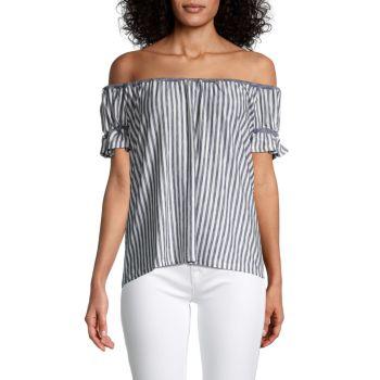 Блуза с эластичными оборками Chelsea & Theodore