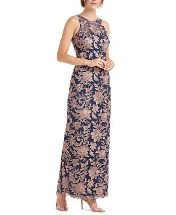 Вечернее платье с вышивкой на шее JS Collections