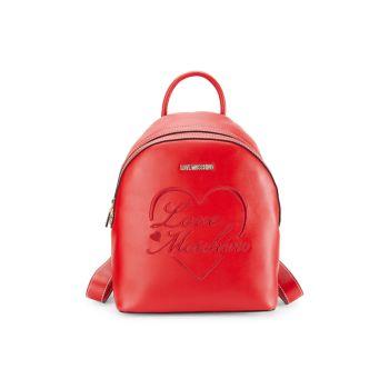 Рюкзак с куполом из искусственной кожи с логотипом LOVE Moschino