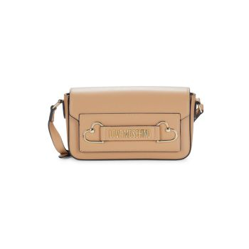 Faux Leather Crossbody Bag LOVE Moschino