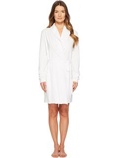 Двухслойный халат из хлопка пима с запахом, длина 34 дюйма Skin