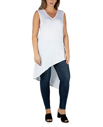 Асимметричный топ без рукавов для женщин 24seven Comfort Apparel