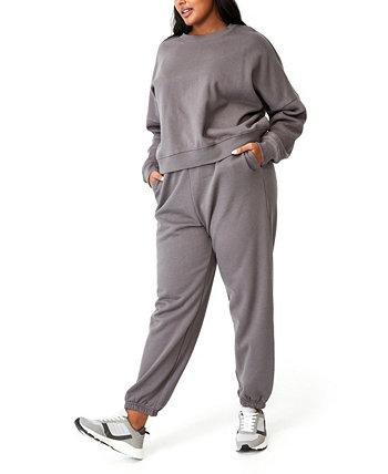Модные классические спортивные брюки больших размеров с высокой талией COTTON ON