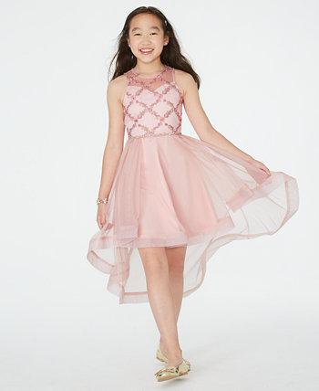 Платье для девочек с вышивкой High-Low Illusion Rare Editions