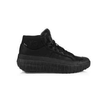 Кожаные массивные кроссовки XXX с высоким берцем Mix Media Y-3
