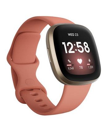 Смарт-часы Versa 3 с розовым глиняным ремешком, 39 мм Fitbit