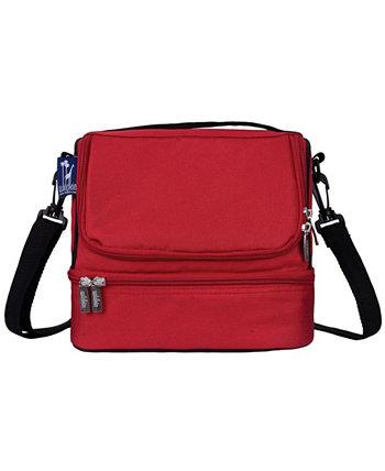 Кардинал красный двухсекционный обеденный мешок Wildkin