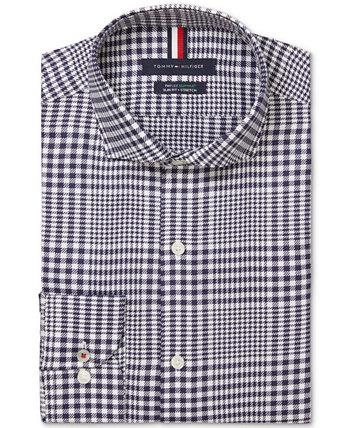Мужская приталенная классическая рубашка из эластичного материала Tommy Hilfiger