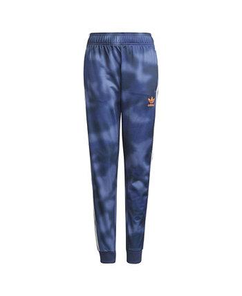 Камуфляжные брюки Big Boys с принтом по всей поверхности из нержавеющей стали Adidas