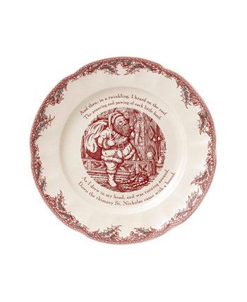 ЗАКРЫТИЕ! Twas the Night Serving Plate Round (Тарелка для ночного сервировки) Johnson Bros.