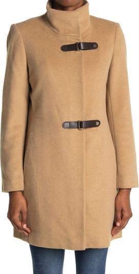Tab Front Closure Wool Blend Coat LAUREN Ralph Lauren