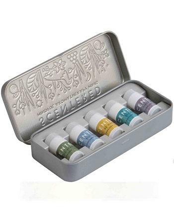Мини-бальзамы с ароматерапией для хорошего самочувствия, по 0,05 унции каждый Scentered