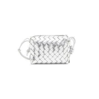 Кожаная сумка через плечо Mini Nodini из металлизированной кожи Bottega Veneta