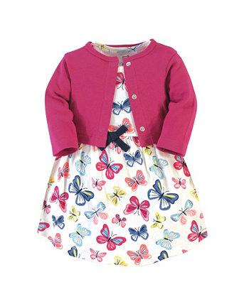 Органическое платье и кардиган для маленьких девочек Touched by Nature