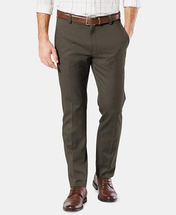 Мужские легкие облегающие штаны цвета хаки Dockers