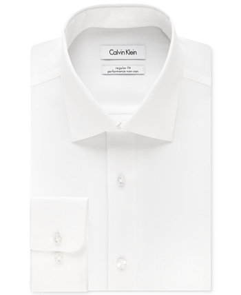 """Классическая мужская классическая рубашка в ёлочку с рисунком """"елочка"""", большая и высокая Calvin Klein"""